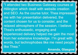 Amanda testimonial for Thea Newcomb
