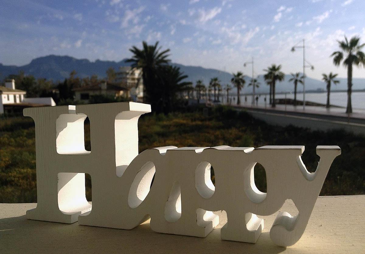 Happy Sign in Altea Spain