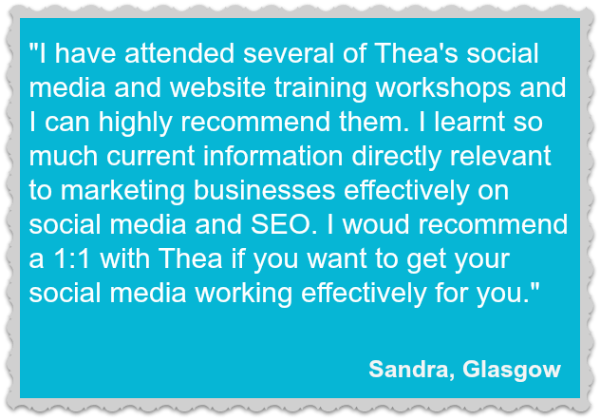 Thea Newcomb - Testimonial / Endorsement from Sandra, Glasgow