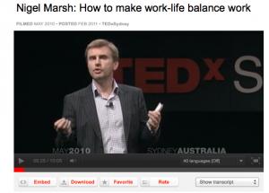 Nigel Marsh Ted Talk in Sydney Australia
