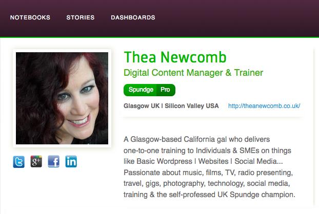 Thea Newcomb's Spundge profile