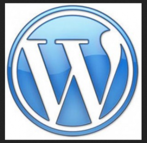 wordpress logo - circle with blue W