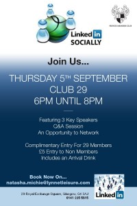 Linkedin Socially Flier - Sept 5
