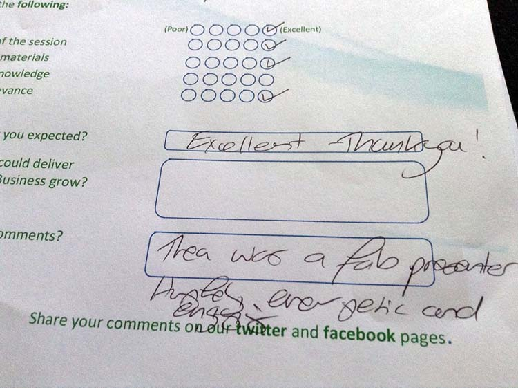 Note from today's SEO Feedback Form
