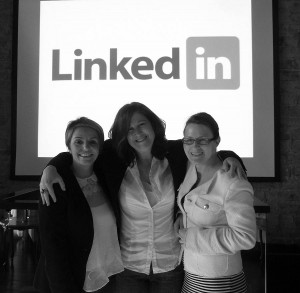 Lesley, Thea, Emer at #29Linkedin