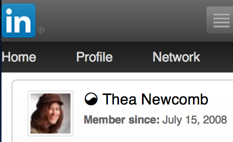 Thea Newcomb on Linkedin since 2008