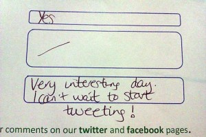 Twitter Feedback form for Thea Newcomb