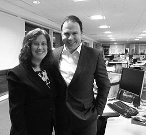 STVs John MacKay with Thea Newcomb