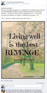 SYBD Facebook Post - Living Well is Best Revenge