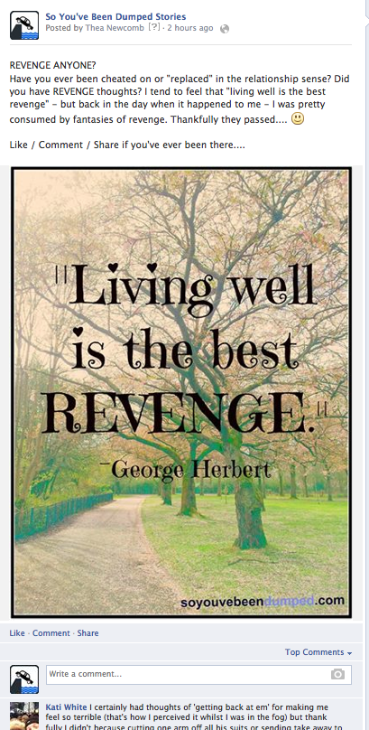 SYBD Facebook Post - Living Well is Best Revenge