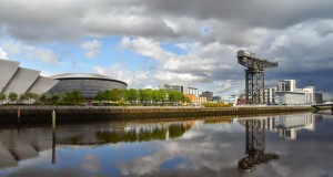 Networking in Glasgow - The River Clyde, Hydro, Crane