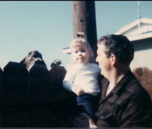 Baby Thea with her Dad
