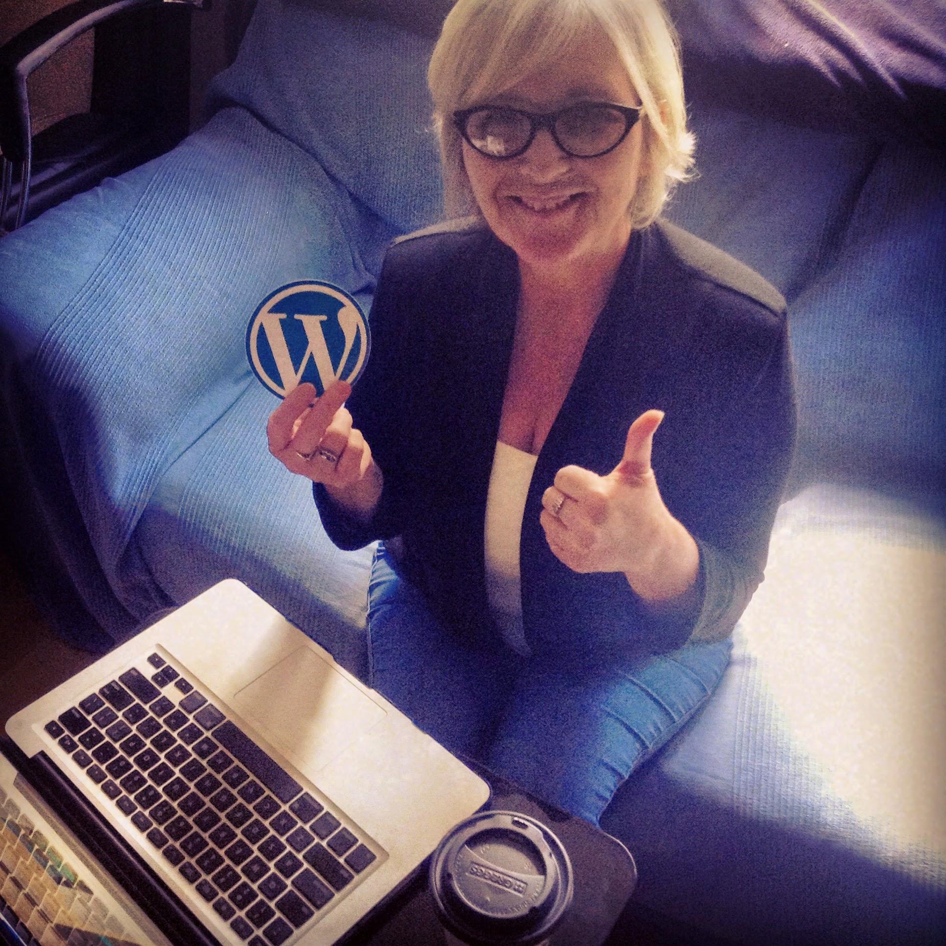 Cathie Way Wordpress Training with Sticker