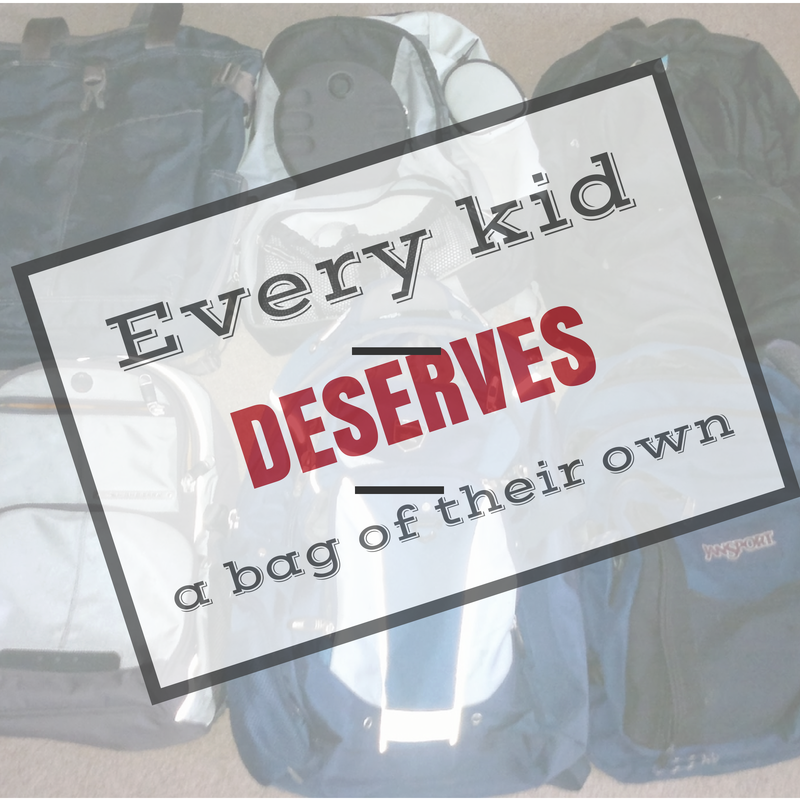 All foster kids deserve a bag of their own - in Glasgow or anywhere else for that matter.
