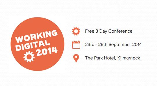 3 day digital conference Working Digital Scotland