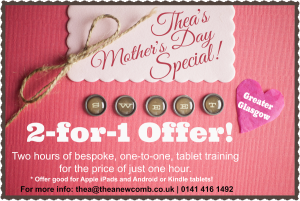 Thea Newcomb | One to One Mother's Day training on phones and tablets