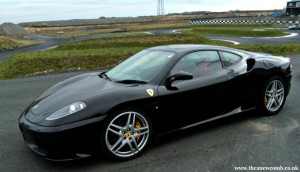 Black Ferrari from Supercars Scotland - March 2015