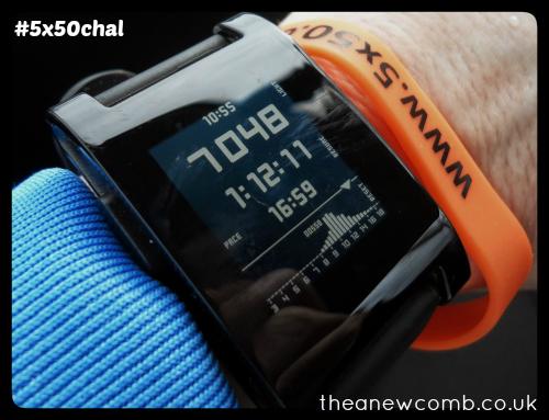 Day 1 - #5x50Chal - Walk Victoria Park (pebble smart watch)