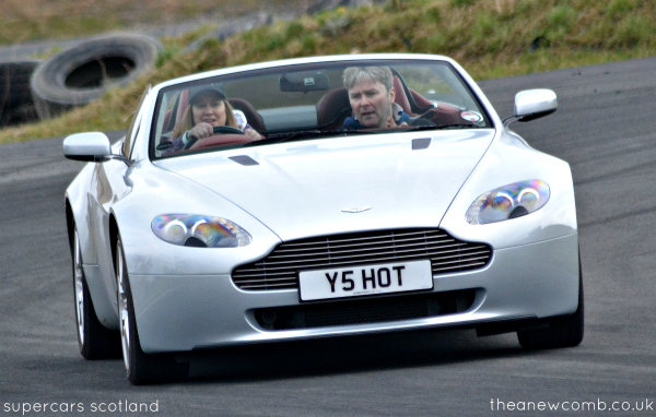Thea Newcomb driving Aston Martin, Supercars Scotland