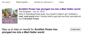 Scottish Power has plunged me into a Mad Hatter world