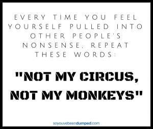Not my circus, not my monkeys