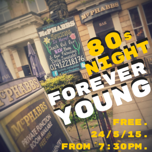 Come along to Forever Young at McPhabbs