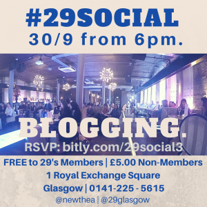RSVP for #29Social - September - Blogging Event