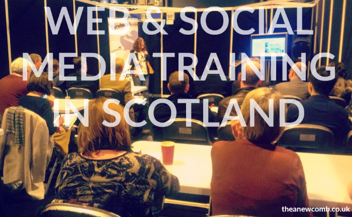 Web and Social Media Training from Thea Newcomb in Scotland