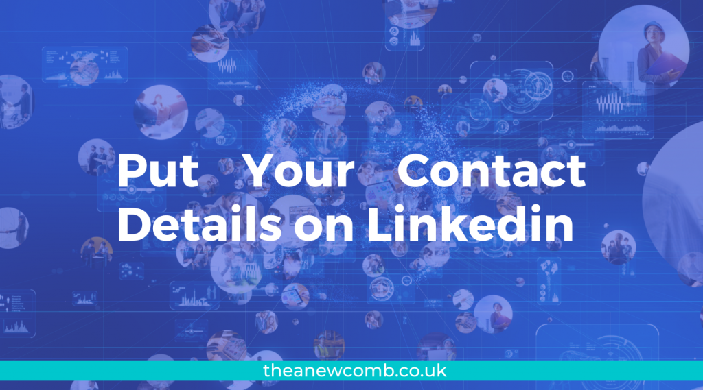 Put Your Contact Details on Linkedin