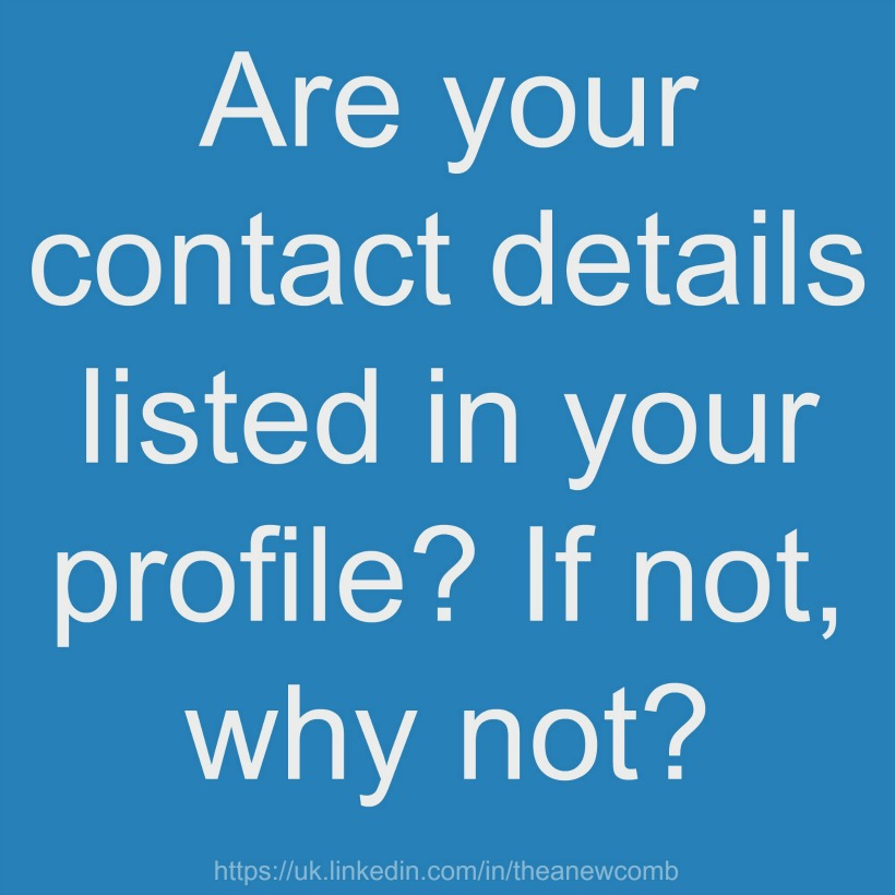 Are your relevant details on Linkedin?