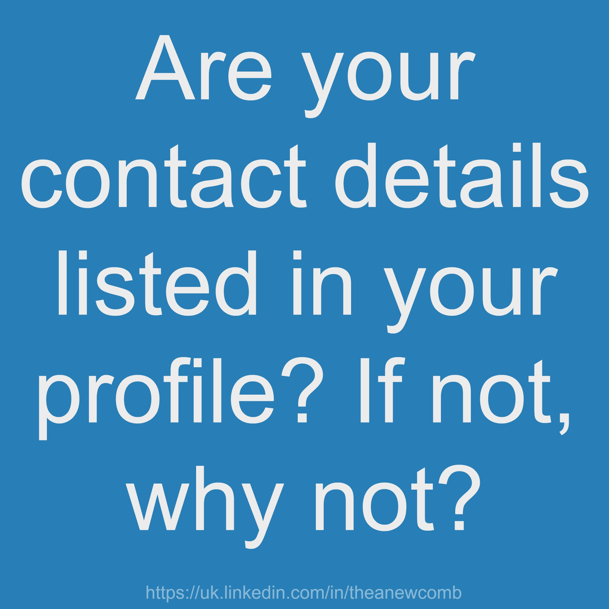 Are you details on Linkedin?