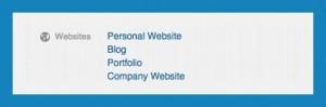 Add your website details to linkedin