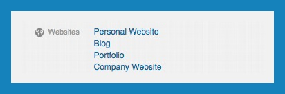 Add your website details to linkedin