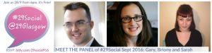 The Panel for #29Social Sept 2016