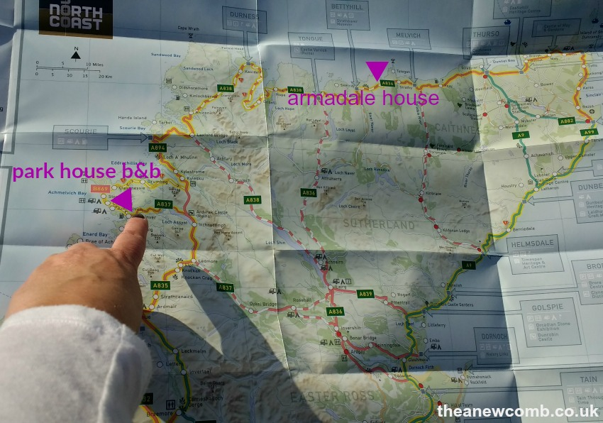 Finger on the Map - A few of Thea's Route 500 tips