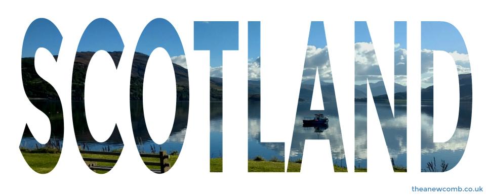 Scotland Cut out using Picmonkey