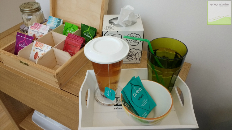 A post colonic treatment Tea for me...