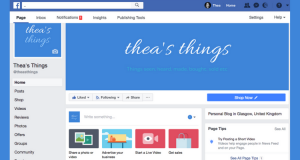 New Facebook Page - Thea's Things