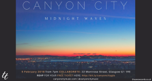 Canyon City in Glasgow - Get Midnight Waves before the show!