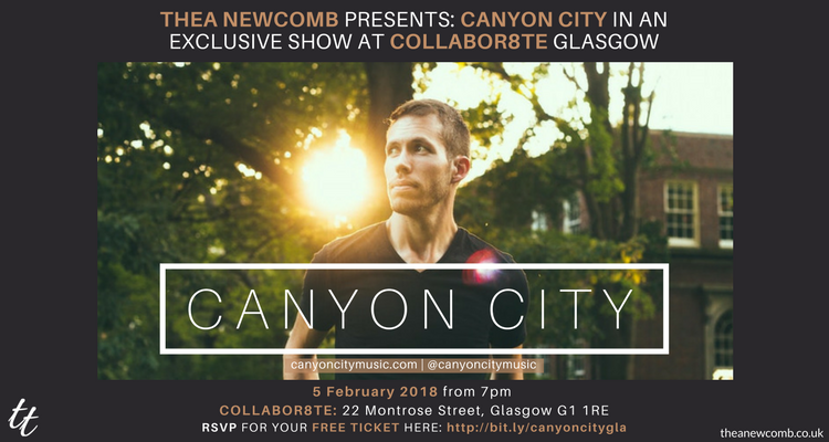 Canyon City in Glasgow - Live on Feb 5, 2018 at Collabor8te