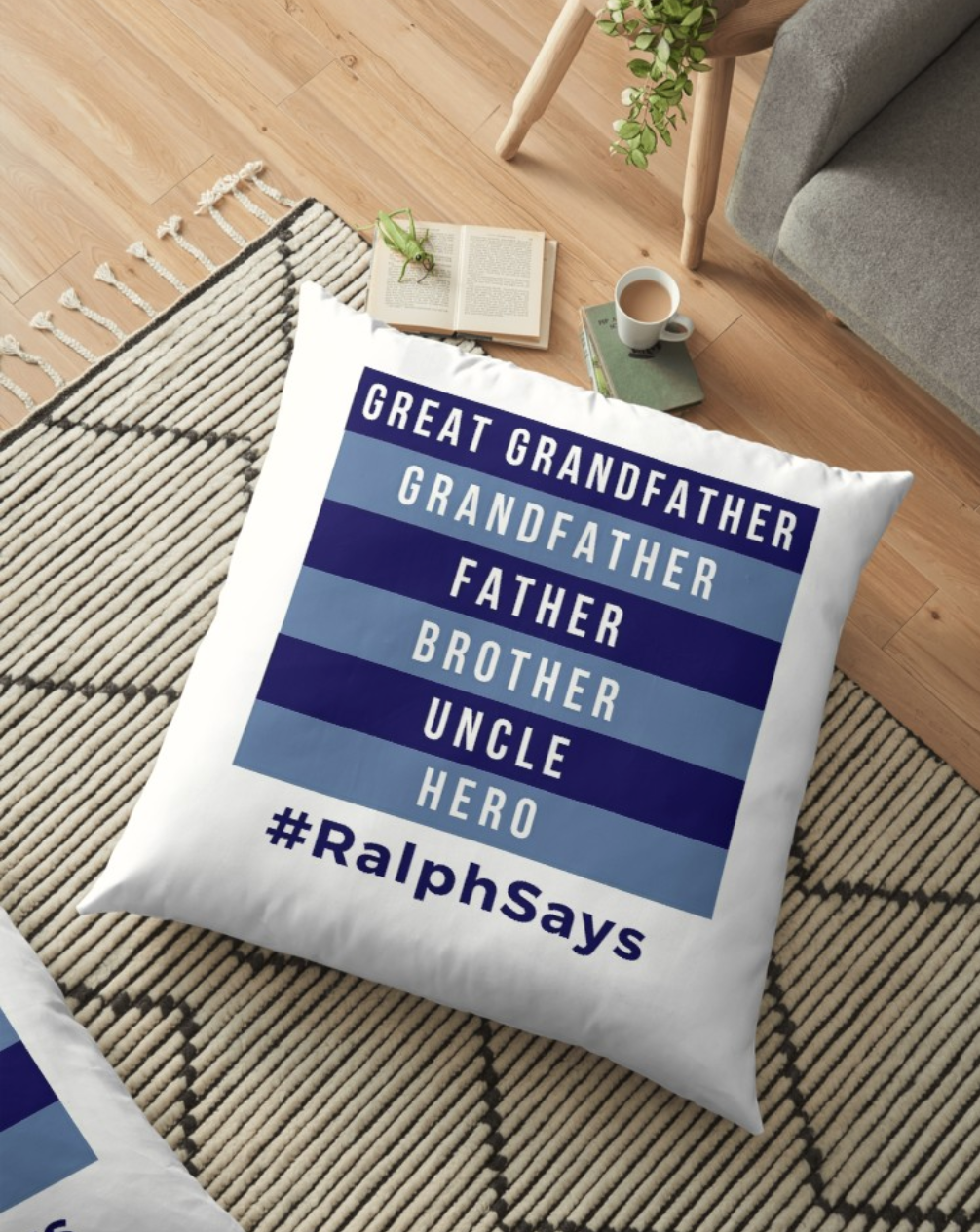 #RalphSays - a cushion from the Ralph Says Things shop