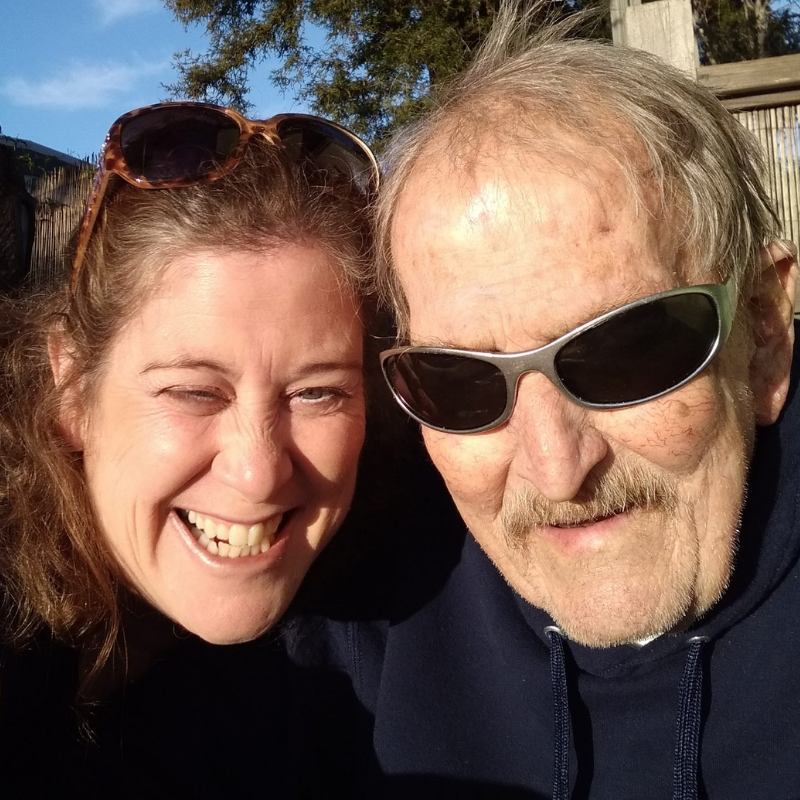 A Ralph and Thea Santa Cruz selfie - December 2018