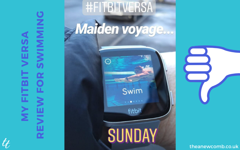 Fitbit Versa Maiden Voyage Swimming - A Fail