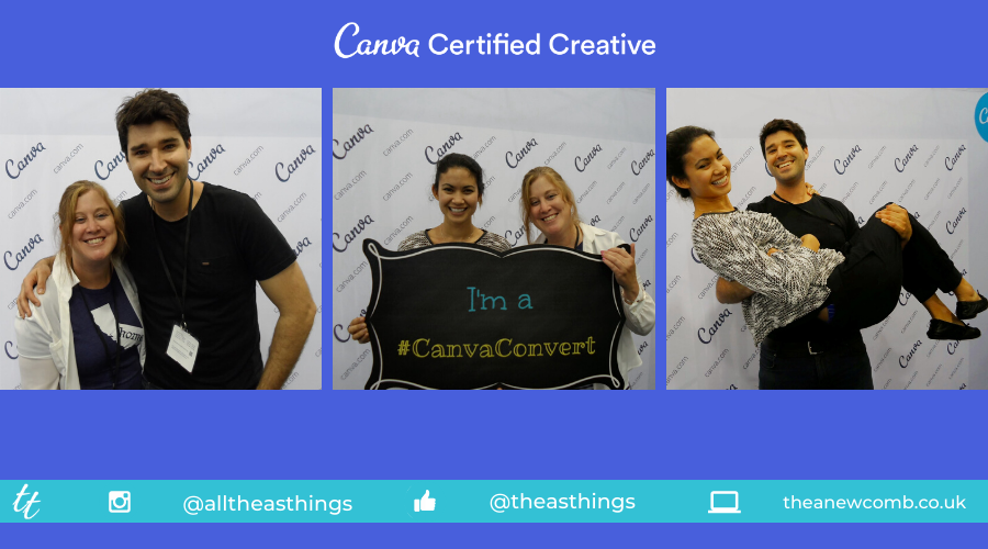 Meeting Canva founders Melanie Perkins and Cliff Obrecht - Blogher 2014 Thea Newcomb