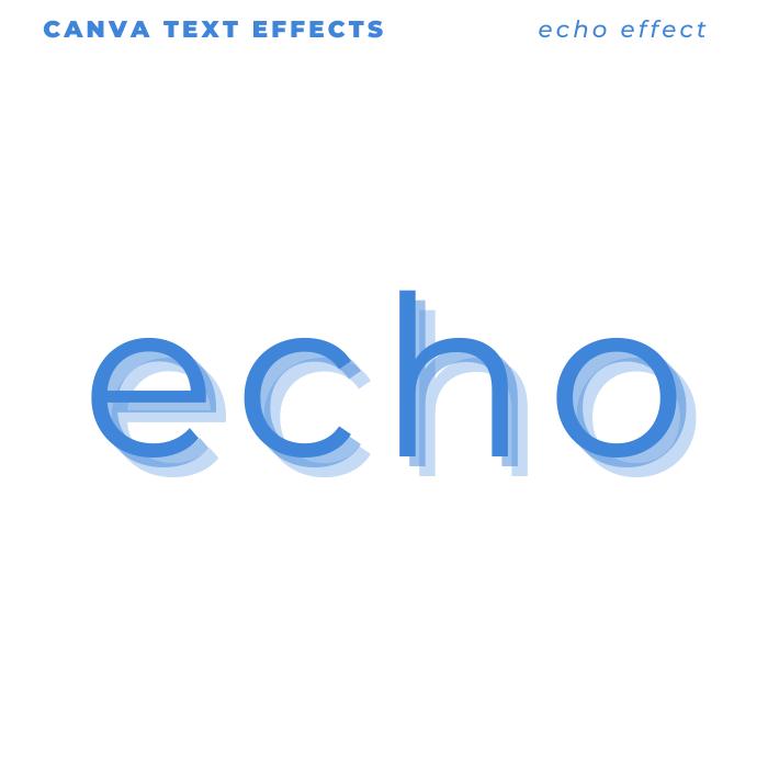 Canva Text Effects - hello hello hello it's echo