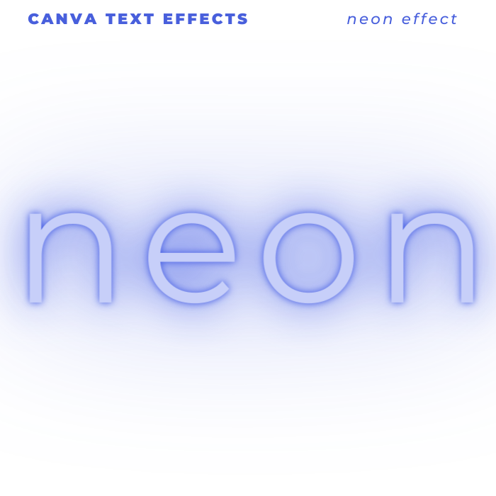 Canva Text Effects - retro effect of Neon