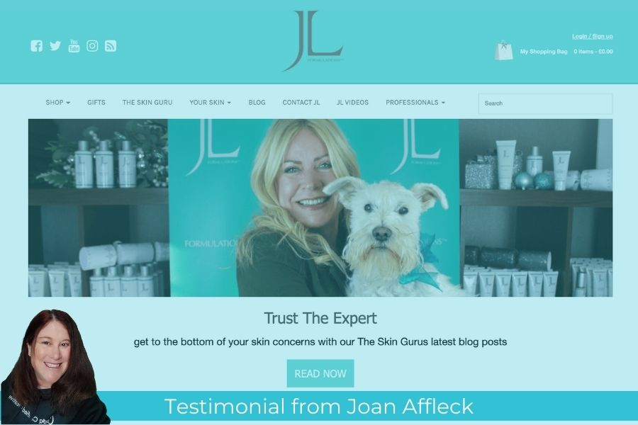 JL's Joan Affleck testimonial for Thea Newcomb