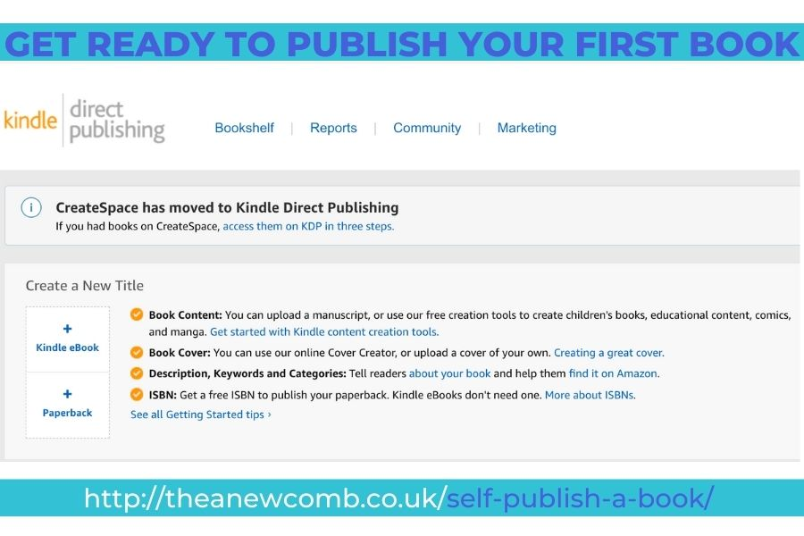 Get ready to self publish a book on Amazon's KDP