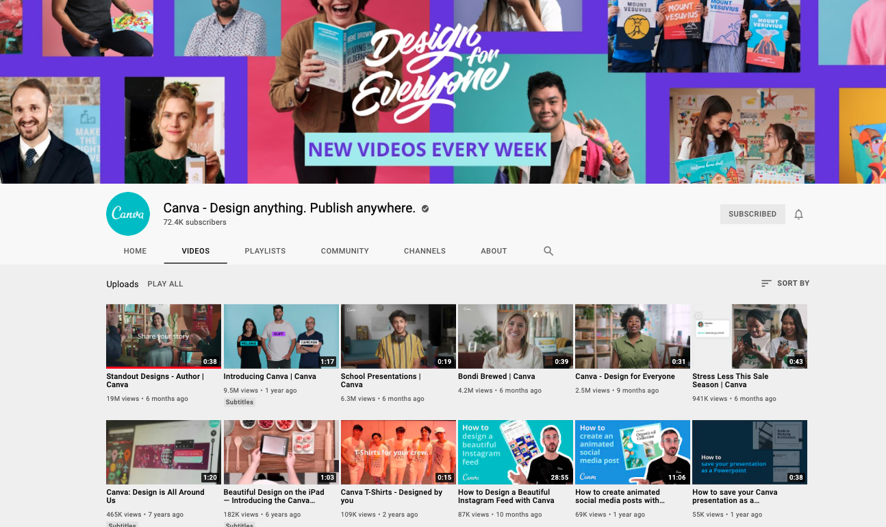 Follow Canva on YT: Canva - Design anything. Publish anywhere.