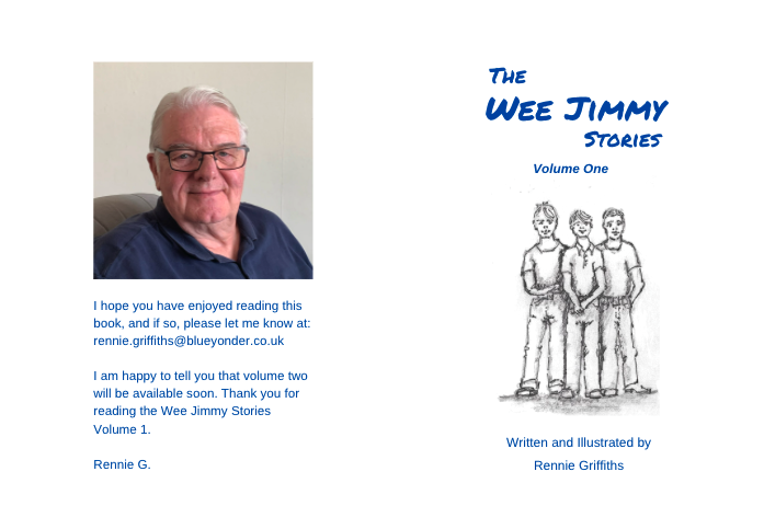 Back cover and front - the wee jimmy stories by Rennie Griffiths